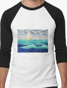 Windy Sail Men's Baseball ¾ T-Shirt
