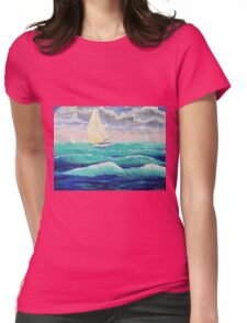 Windy Sail Womens Fitted T-Shirt