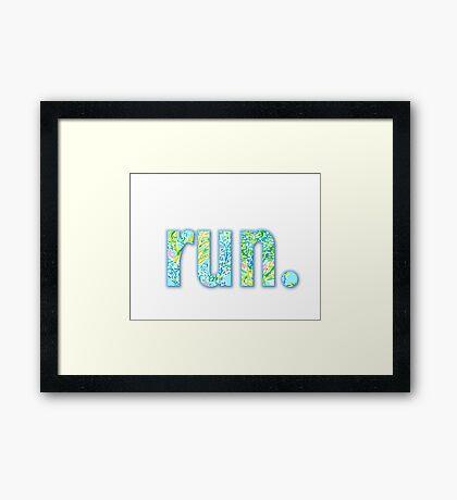 run. Framed Print