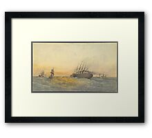The Great Eastern Under Weigh, July 23rd, , Escort and other Ships, H.M.S. Terrible, H.M.S. Sphinx, Robert Charles Dudley Framed Print
