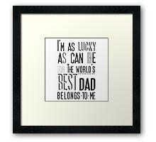 My Daddy My  Superhero Framed Print