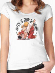 RYU VS KEN - GRACIE JIU-JITSU STYLE Women's Fitted Scoop T-Shirt
