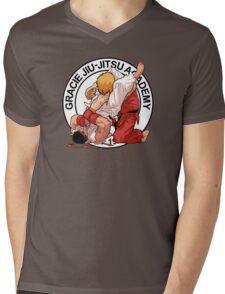 RYU VS KEN - GRACIE JIU-JITSU STYLE Mens V-Neck T-Shirt