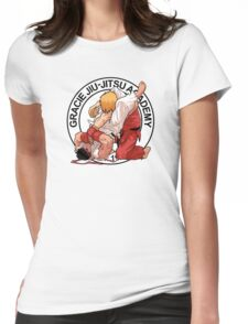 RYU VS KEN - GRACIE JIU-JITSU STYLE Womens Fitted T-Shirt