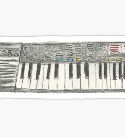 Retro Casio Keyboard Sticker