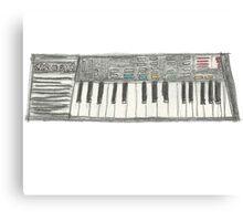 Retro Casio Keyboard Canvas Print