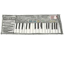 Retro Casio Keyboard Photographic Print