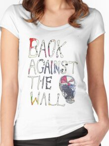 Back Against The Wall Women's Fitted Scoop T-Shirt