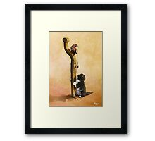 The Cat, the Bird and the Mouse Framed Print