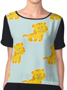 baby pattern with cute tiger Chiffon Top