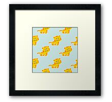 baby pattern with cute tiger Framed Print