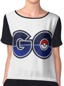 pokemon go logo Chiffon Top