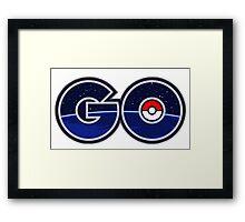 pokemon go logo Framed Print