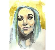 watercolor girl Photographic Print
