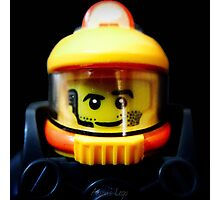 Lego Space Miner minifigure Photographic Print