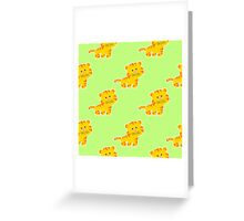 baby pattern with cute tiger Greeting Card