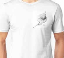 black and white dotwork flower Unisex T-Shirt