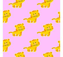 baby pattern with cute tiger Photographic Print