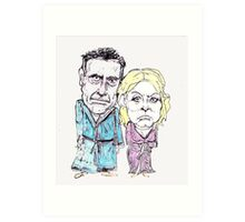 Mitt and Anne Romney- after the election Art Print