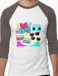 I love the 80s Men's Baseball ¾ T-Shirt