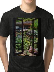 Flowers at the windows Tri-blend T-Shirt