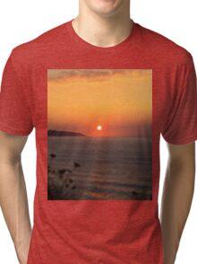 Sun is shinig at the beach Tri-blend T-Shirt