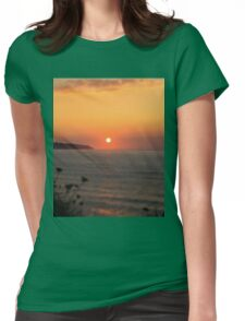 Sun is shinig at the beach Womens Fitted T-Shirt