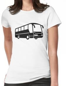Coach bus Womens Fitted T-Shirt