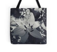 Flower Black and White Tote Bag