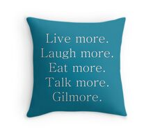 Gil-more. | White Throw Pillow