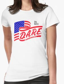 (IRONIC) DARE DRUG ABUSE RESISTANCE EDUCATION  Womens Fitted T-Shirt