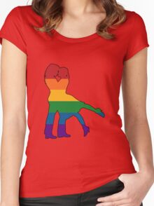 Lesbians Kissing Silhouette Women's Fitted Scoop T-Shirt