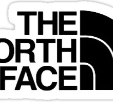 The North Face Clothing Logo. Sticker