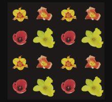 4 tulips pattern Kids Tee