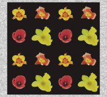 4 tulips pattern Baby Tee