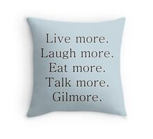 Gil-more. | Black Throw Pillow
