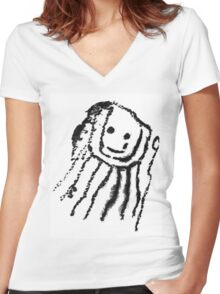 Monstruo Espagueti Volador Women's Fitted V-Neck T-Shirt
