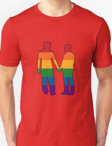 Gay Couple Holding Hands Silhouette T-Shirt