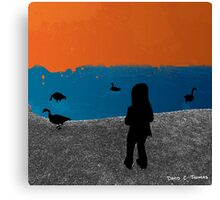 Girl and the Geese 2012 Canvas Print