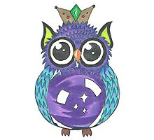 Crystal Owl Photographic Print