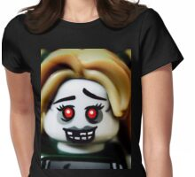 The Zombie Cheerleader minifigure Womens Fitted T-Shirt