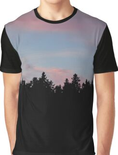 Silhouette of the Northern Nature Graphic T-Shirt