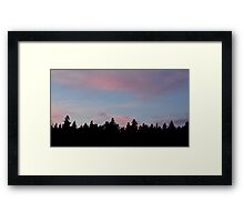 Silhouette of the Northern Nature Framed Print