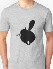 Black cat posing backside T-Shirt