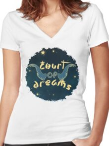 Court of Dreams Women's Fitted V-Neck T-Shirt