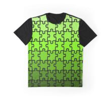 Green Puzzle Graphic T-Shirt