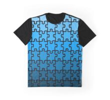 Blue Puzzle Graphic T-Shirt