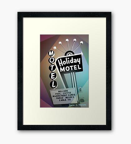 Vegas Motel Framed Print