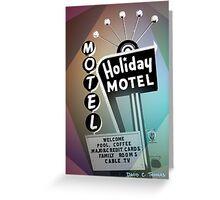 Vegas Motel Greeting Card