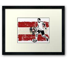 Soccer - Fußball - Austria Flag Framed Print